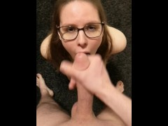 Young German Teen With Glasses Gives Blowjob And Gets Facial By Big Cock